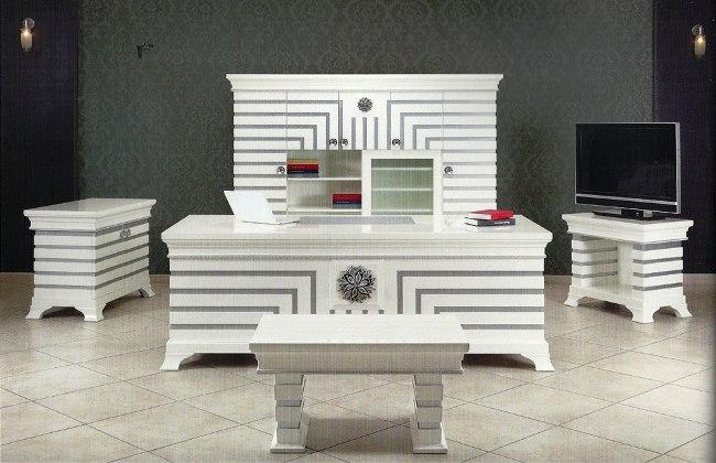 Yıldız masa takımıahşap masacilalı makam masalarımüdür masa